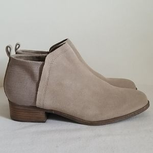 Toms Suede Side Zip Ankle Boot